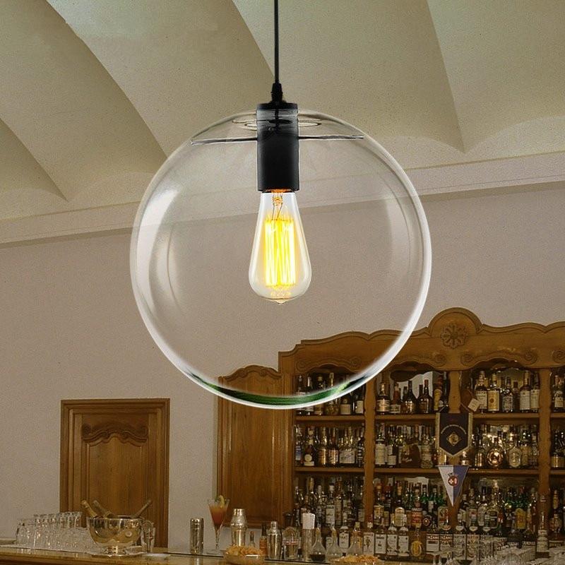 Modern Nordic Lustre Globe Pendant Lights Glass Ball Lamp Shade Hanging  Lamp E27 Suspension Kitchen Light Fixtures Home Lighting In Pendant Lights  From ...
