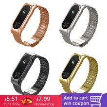 FOHUAS Metal Strap For Xiaomi Miband 2 Wristbands Wrist Band Mi Smart Bracelet Accessory Black Silver Gold Rose Pink