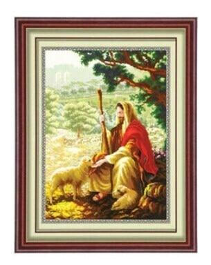 Пастух людей Иисус Христос вышивки крестом Наборы DMC для Вышивка большая  картина DIY набор ручной рукоделие стены Домашний Декор купить на AliExpress ad20dc4fb705c
