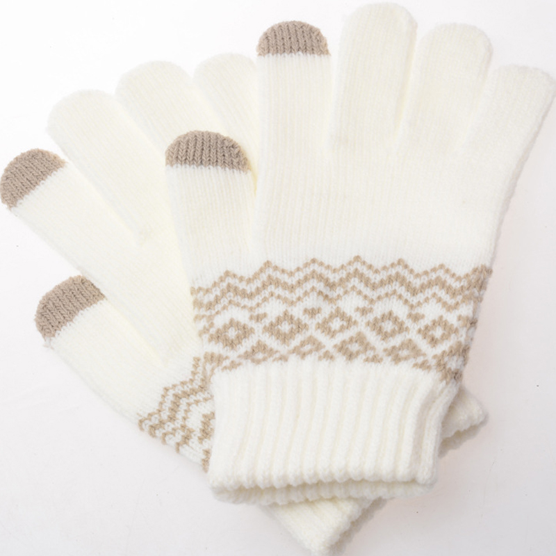 Fashion Knitted Thick Touchable Screen Gloves Women Children Winter Warm Touchable Screen Gloves For Mobile Phone