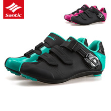 Santic Road Cycling Shoes TPU Wearable Road Bike Shoes Men Women 2017 PRO Racing Team Self-locking Athletic Bicycle Shoes