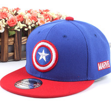 new brand fashion children hats U.S.A captain male girl boy hip hop hats outdoors flat snapback coup