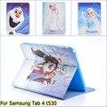 Новый Мультфильм Анна искусственная кожа Стенд держатель чехол обложка для Samsung Galaxy Tab 4 tab4 10.1 T530 T531 t535 с стилус