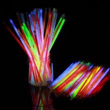 50-100pcミックスカラーグロースティックセーフライトスティックネックレスブレスレット蛍光イベントお祝いパーティー用品コンサート装飾