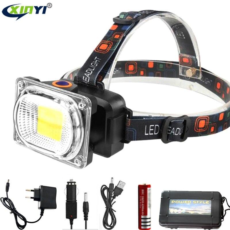 Ultra Bright 6200LM COB LED Headlamp USB Charging Outdoor Camping Fishing Headlight Work Portable Searchlight Lantern Flashlight