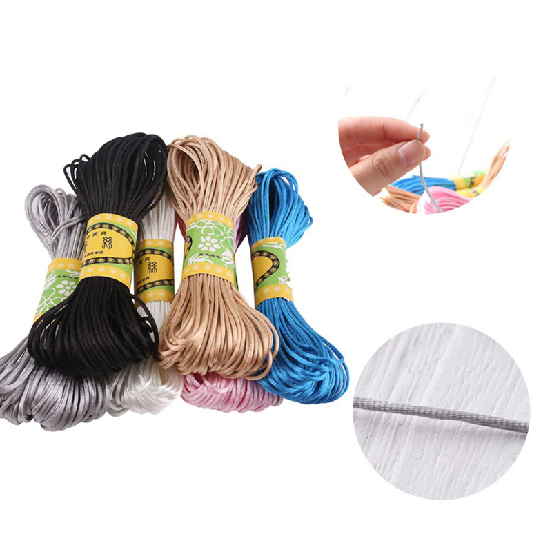 100D Nylon High-Elastic Colorful Rope DIY Accessories DIY Making Baby Pacifier Chain And Bracelet Stain Silk Rope Nylon Coard
