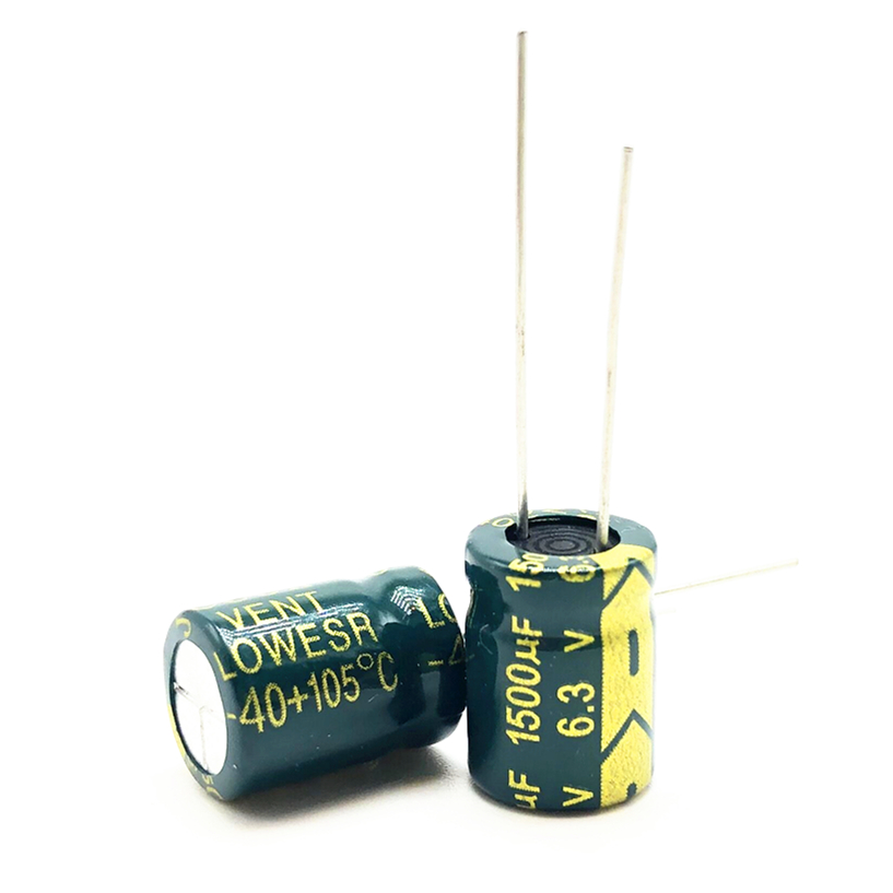 20pcs/lot 6.3V 1500UF 10*13 High Frequency Low Impedance Aluminum Electrolytic Capacitor 1500uf 6.3v 20%