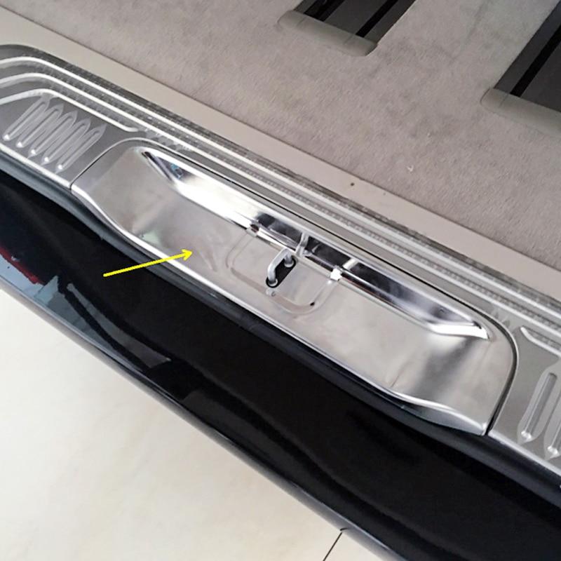 for Mercedes-Benz Vito (W447)  2014 2015 2016 2017  Accessories  Inner Rear Bumper Plate Cover 3pcs yandex w205 amg style carbon fiber rear spoiler for benz w205 c200 c250 c300 c350 4door 2015 2016 2017