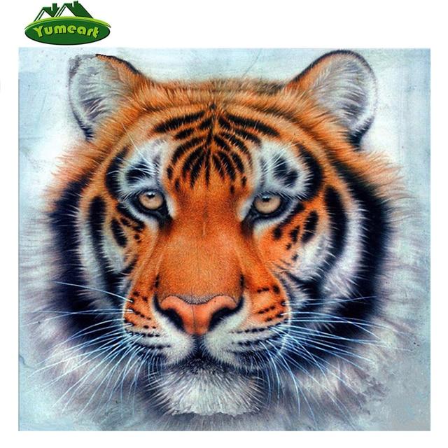 Handicrafts Diamond Painting Cross Stitch Tiger Face Diy Diamond