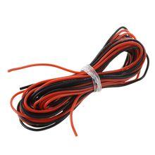 2x3 м 24 калибра AWG силиконовый резиновый провод кабель красный черный гибкий дропшиппинг
