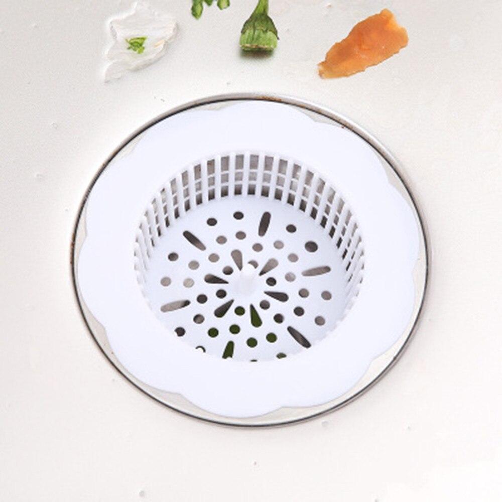 Сетка для стока раковины фильтры для раковины кухня анти засорение пластиковая раковина очистка труб мусора сетка волосы в ванной дуршлаг фильтр - Цвет: White