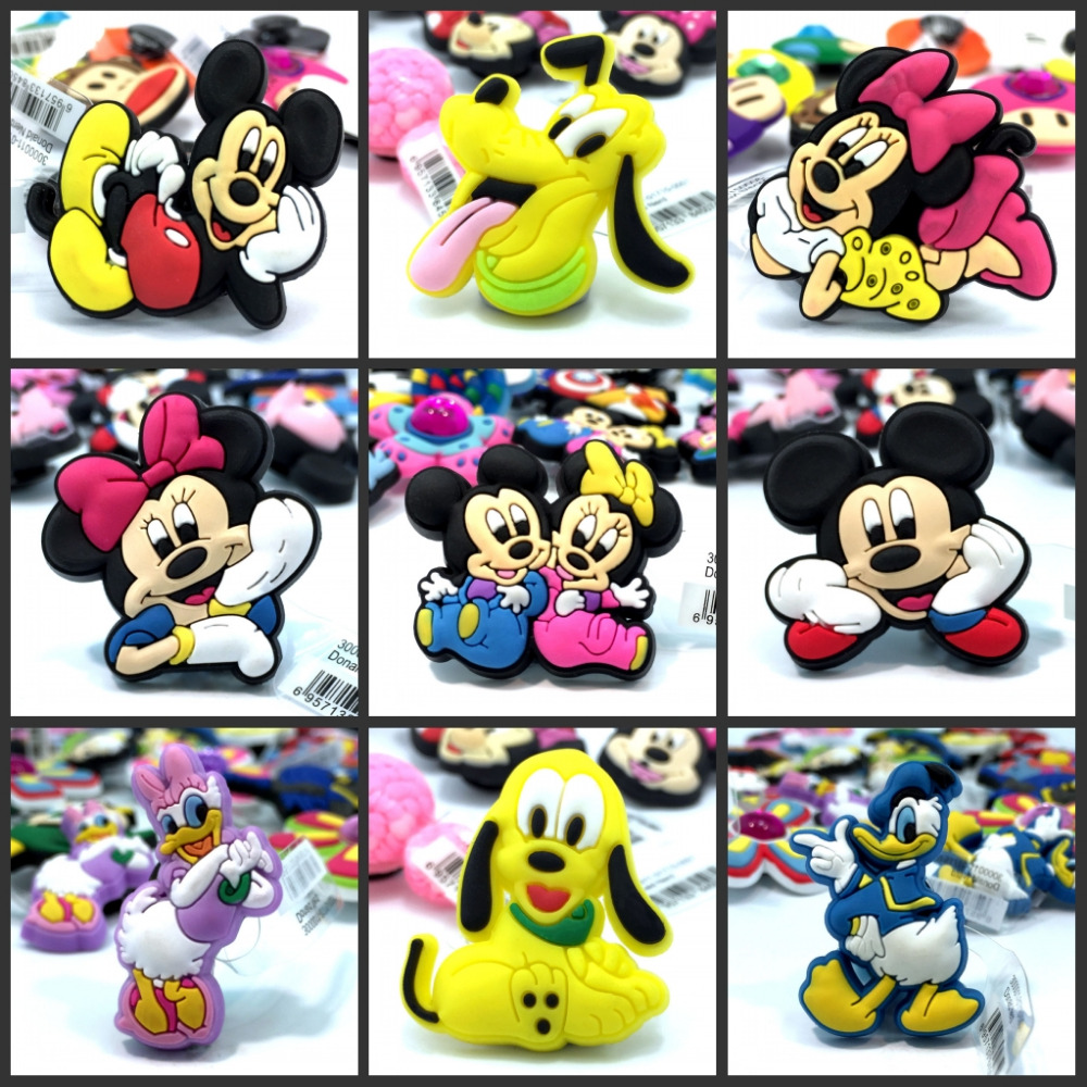 1pcs High Quality Hot Mickey PVC Shoe Charms,Shoe Buckles Fit Bands Bracelets Party Gifts r9842807 r764741 original projector bulb uhp 132 120 1 0 e22 for barco overview ov 508 overview ov 513 overview ov 515