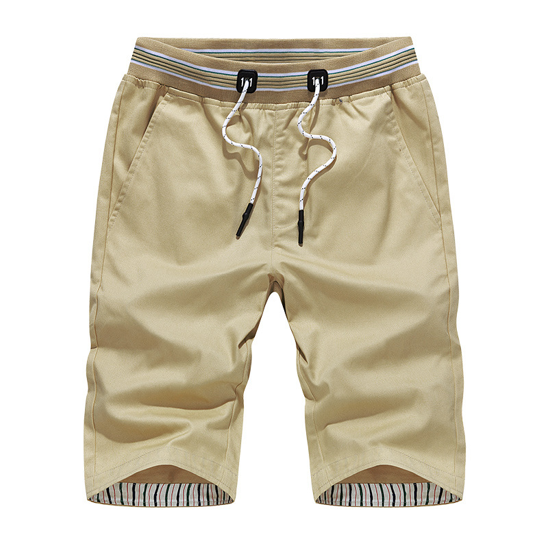 Summer Cotton Shorts Men Casual Bermuda Brand Solid High Quality Compression Male Cargo Shorts Light Fashion Short Pants YJ09