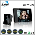 "7"" TFT Video Intercom,2.4GHz Digital Wireless  Door Phone System  with 1 Monitor Doorbell Camera WiFi Doorbell Free Shipping"