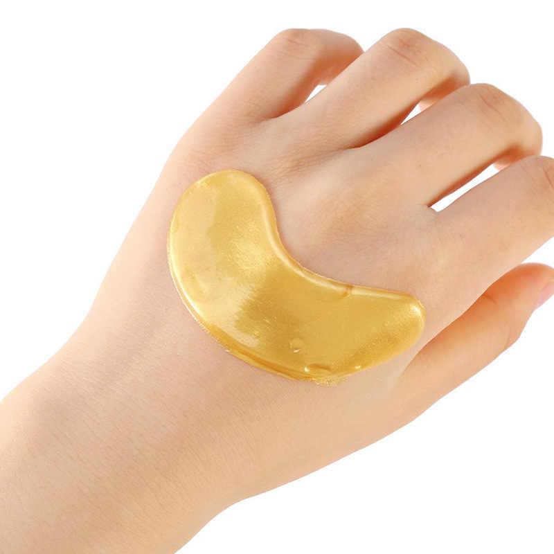 2 adet (1 Torba) altın Göz Maskesi Kristal jel maske Kaldırmak Antipufiness Yaşlanmayan Nemlendirici göz bandı için Gözler Koyu Halkalar
