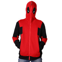 KingMistres Deadpool Cosplay Hooded with Eyes Open Sweatershirt X-Men Cotton Hoodie
