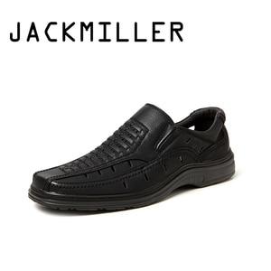 Image 1 - Jackmiller estate calda di vendita sandali super leggeri uomini confortevole sandali degli uomini traspirante slip on scarpe da uomo solido lato nero goring