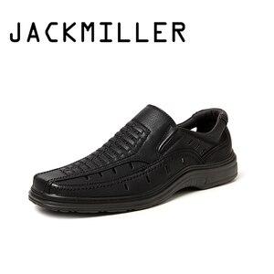 Image 1 - Jackmiller summer hot sale sandals men super light comfortable men sandals breathable slip on men shoes solid black side goring