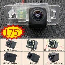175 градусов Fisheye MCCD 12LED HD камера заднего вида Камера для BMW X3 X5 X6 E53 E70 E71 E72 E83 E38 E39 E46 E60 E61 E65 E66 E90 E91 E92