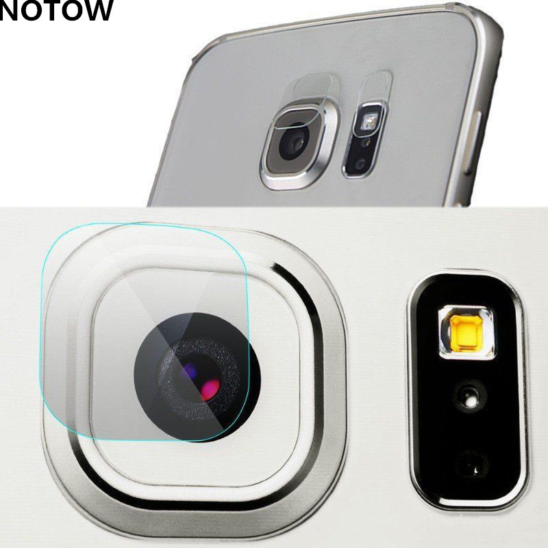 NOTOW 7H flexible Rear 2 in 1 Transparent Camera Lens & Flash Lamp Tempered Glass Film Protector Case For Sansung Galaxy s7