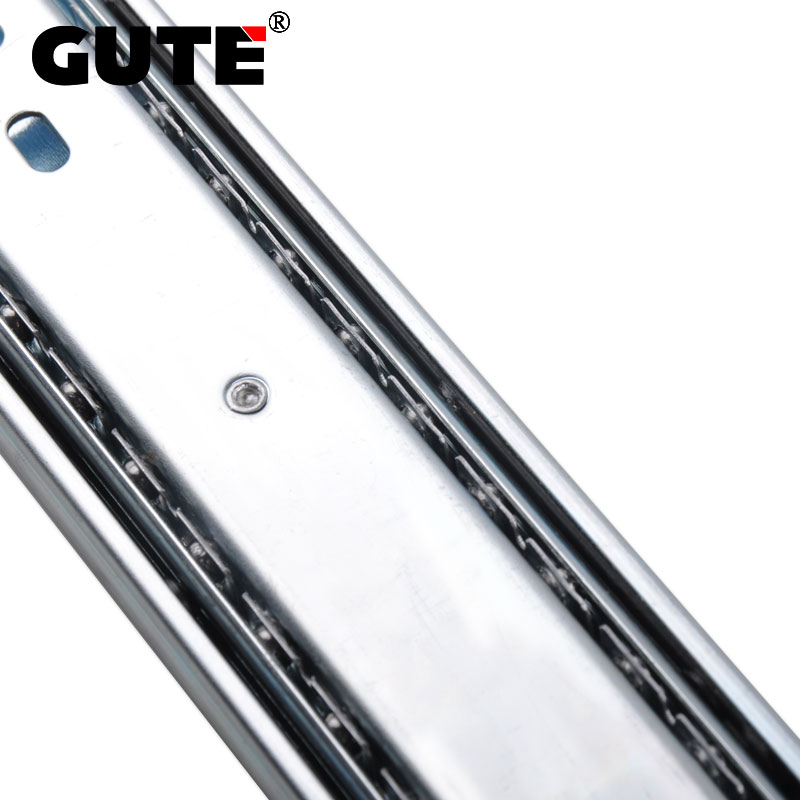 GUTE Cold-rolled Steel Three Section Drawer Slide Heavy Duty Drawer Track Mute Cabinet Wardrobe Kitchen Cupboard Slide Rails gute cold rolled steel three section drawer slide heavy duty drawer track mute cabinet wardrobe kitchen cupboard slide rails