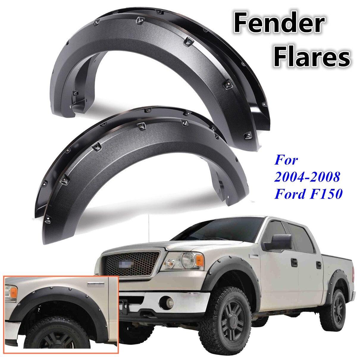 4Pcs Car Rivet Style Side for Fender Mudguard Wheel Flares For Ford F150 2004 2005 2006 2007 2008