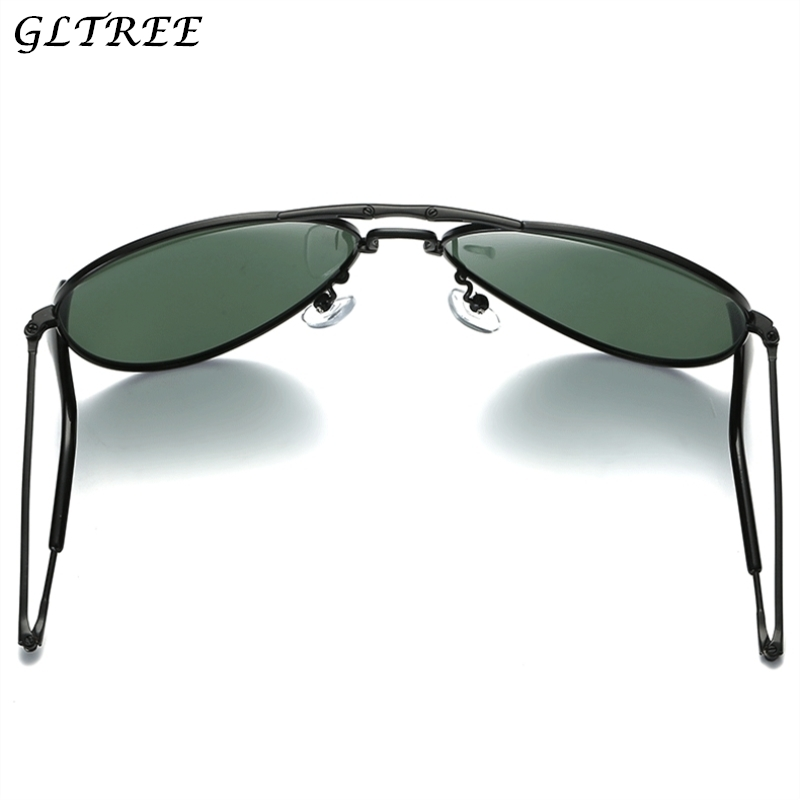 GLTREE 2018 Pilot Reteo Titanium POLARIZED Sunglasses Can Fold Ultralight HD Driving Brand Design Sun Glasses Oculos De Sol Y10 muñeco buffon