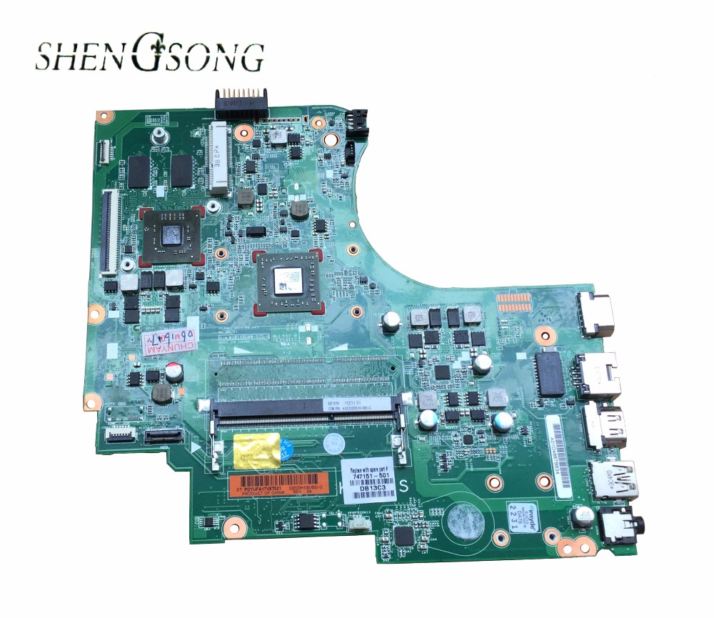 747151-001 747151-601 747151-501 for HP 15-D 255 G2 Notebook for 255 laptop motherboard for AMD A4-5000 DDR3 Fully tested for hp laptop motherboard 688745 001 688745 601 688745 501 8770w 100% tested 60 days warranty