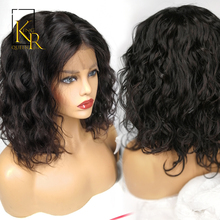 Curly Lace Front Human Hair Wigs For Black Women Pre Plucked Natural Hairline With Baby Hair Remy Brazilian Hair Short Bob Wig