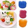 3Pcs Nette Cartoon Sushi Nori Reis Mold Decor Cutter Bento Maker Sandwich DIY Werkzeug Küche Zubehör hause backen Nori sushi werkzeug