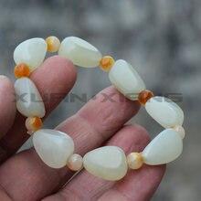 Прямая поставка мужские и женские браслеты из нефрита белые