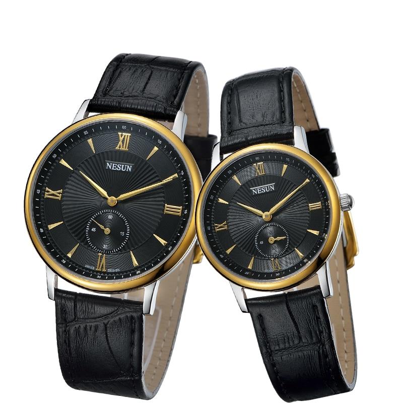 Nesun Switzerland Luxury Brand Watch Women Japan MIYOTA Quartz Movement Men's Watches Genuine Leather Couple's Clock N8501-LL4