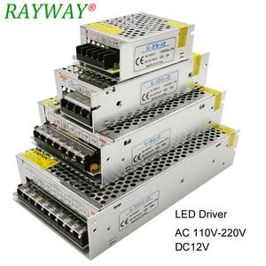 Image 1 - 電源 12 led ストリップ用 ac 220 dc 12 v ベルトトランス 10A 30A 25A 3A 2A 1.25A led ドライバ充電器降圧アダプタ