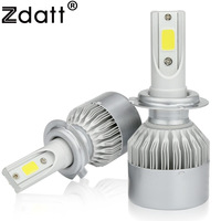 Zdatt Super Bright H7 LED Headlights Bulb 60W 6000lm 6000K White COB LED Car Led Light