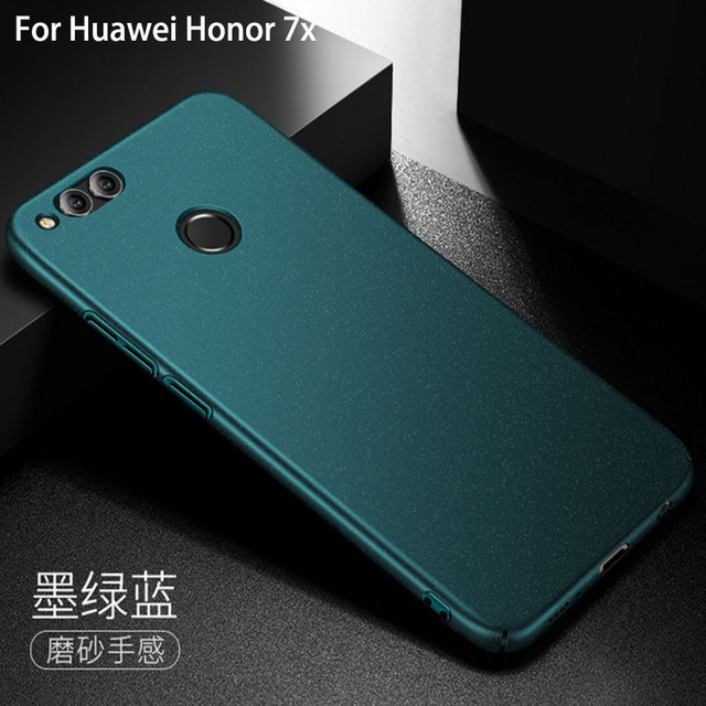pretty nice 58272 53b13 US $6.99 30% OFF|For Huawei honor 7x Case Matte AIXUAN Plastic Hard Back  Cover For Huawei honor 7x Full Protective Phone Cases With Glass Film-in ...