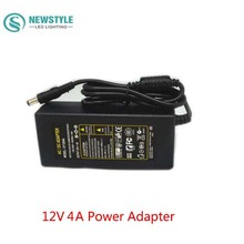 Free Shipping Universal 12V 4A AC100-240V to DC Power Adapter Converter Supply Charger Transformer Without Plug