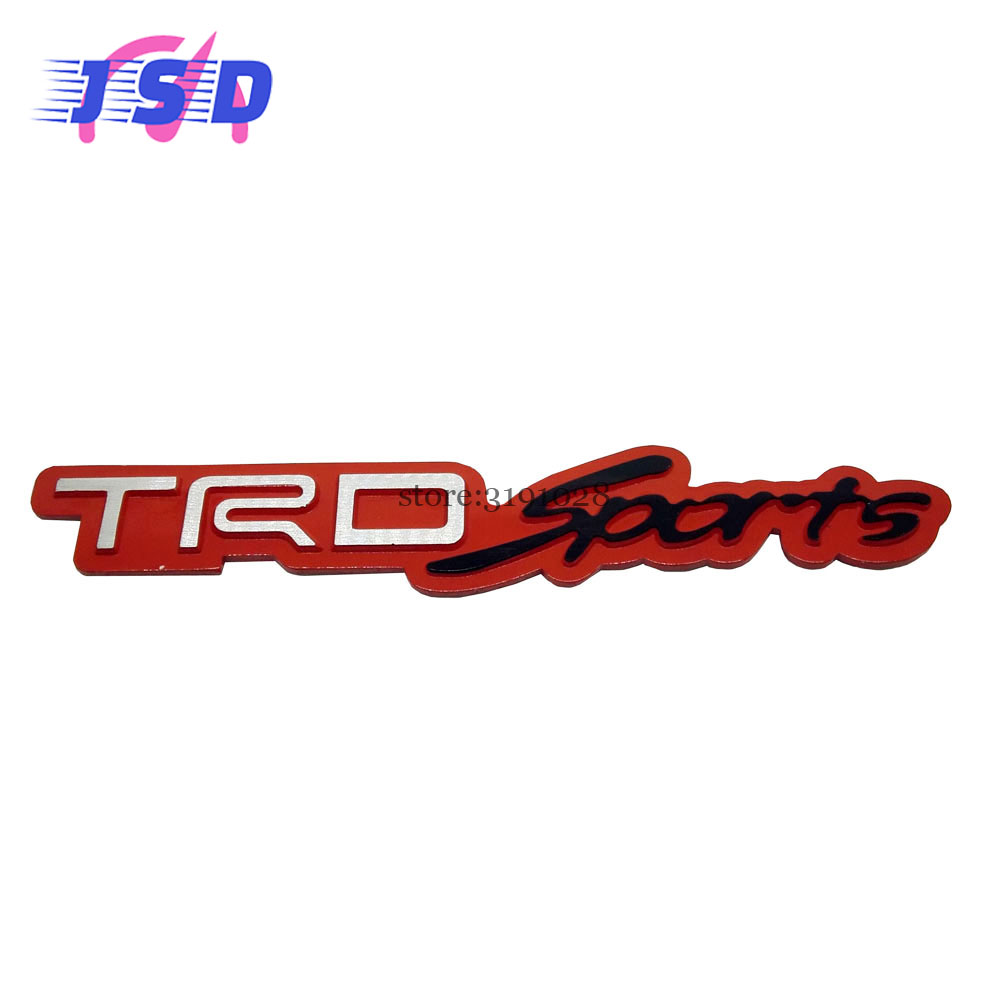 Car metal aluminum 3d red emblem badge stickers for trd sport logo for toyota tundra