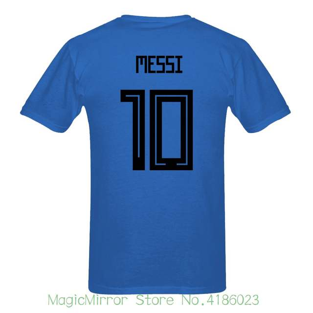 new style 7e8b9 559ad 2018 New Russia World Match Cup Argentina Messi Number 10 sporty jersey  summer T shirt Mens fans footballer goal Tee Shirt