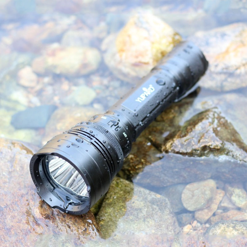 1pcs New Flashlight 3600 Lumens T5 Led Adjustable Torch Lamp Penlight Waterproof For Outdoor