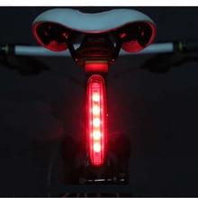 Luces de bicicleta luz Ciclismo luz trasera advertencia de seguridad luz 5 LED bike bicicleta Lanterna Luci bici bisiklet led