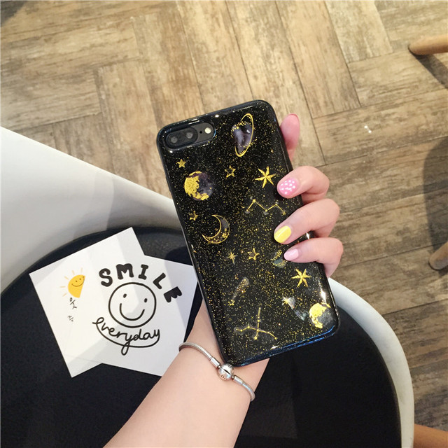 Star And Moon Glitter - Clear Transparent Case 2