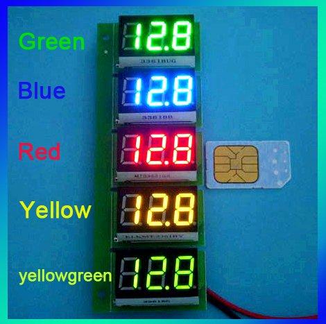 Wholesale Yellow Dc 0 36 Three Digit Digital Panel Volt