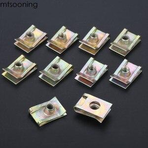 Image 5 - Mtsooning 10 шт. 6 мм M6 протекторная панель, шпиль, гайка, обтекатель, зажим, крепеж, скорость, цинк, монтажный зажим для VW
