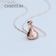Silver rose gold necklace sweet chocolate hollow out fashion accessories female temperament