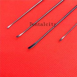 4 шт. титановые yasargili микро распаторы слегка изогнутые наконечники для нейрохирургии хирургические инструменты