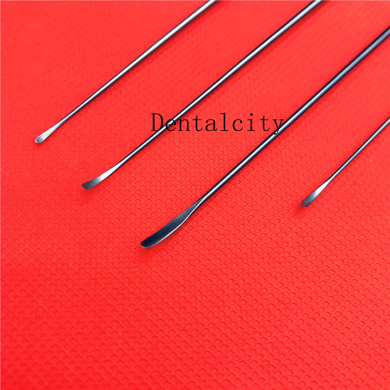 4pcs Titanium Yasargil Micro Raspatory Slightly Curved Tips Neurosurgery Surgical Operation Instruments