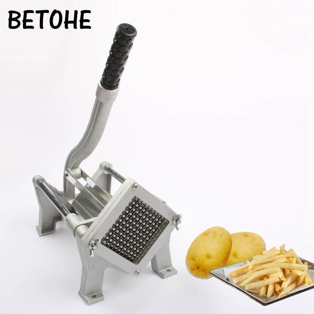 Сплав сталь картофель фри полосы резак чипсы резка машины Руководство Картофель слайсер ручной Push Овощи Фрукты Chopper