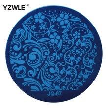 Yzwle 1 шт. Нержавеющаясталь плиты печать изображения Штамповка Таблички DIY маникюр шаблон Лаки для ногтей Инструменты (jq-67)