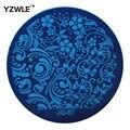Yzwle 1 unids placa de acero inoxidable imagen placas estampación sello DIY plantilla de manicura esmalte de uñas herramientas ( JQ-67 )