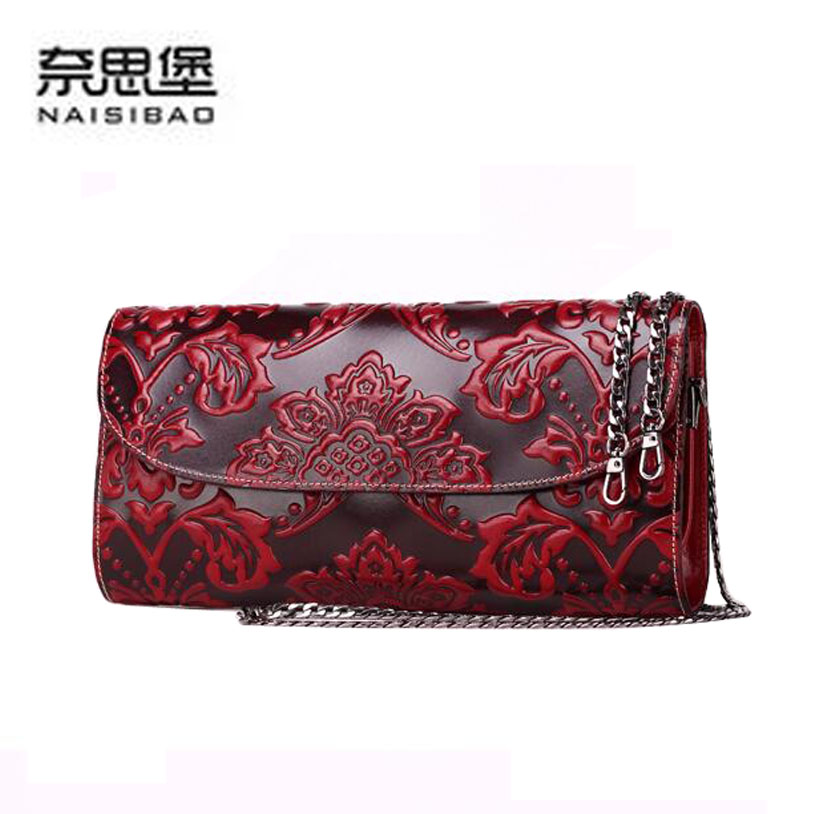 2017 New women genuine leather bag famous brands quality cowhide embossing fashion women clutch bags small shoulder bag 2016 new genuine leather women bag brands fashion women clutch bag fashion quality women leather messenger bag